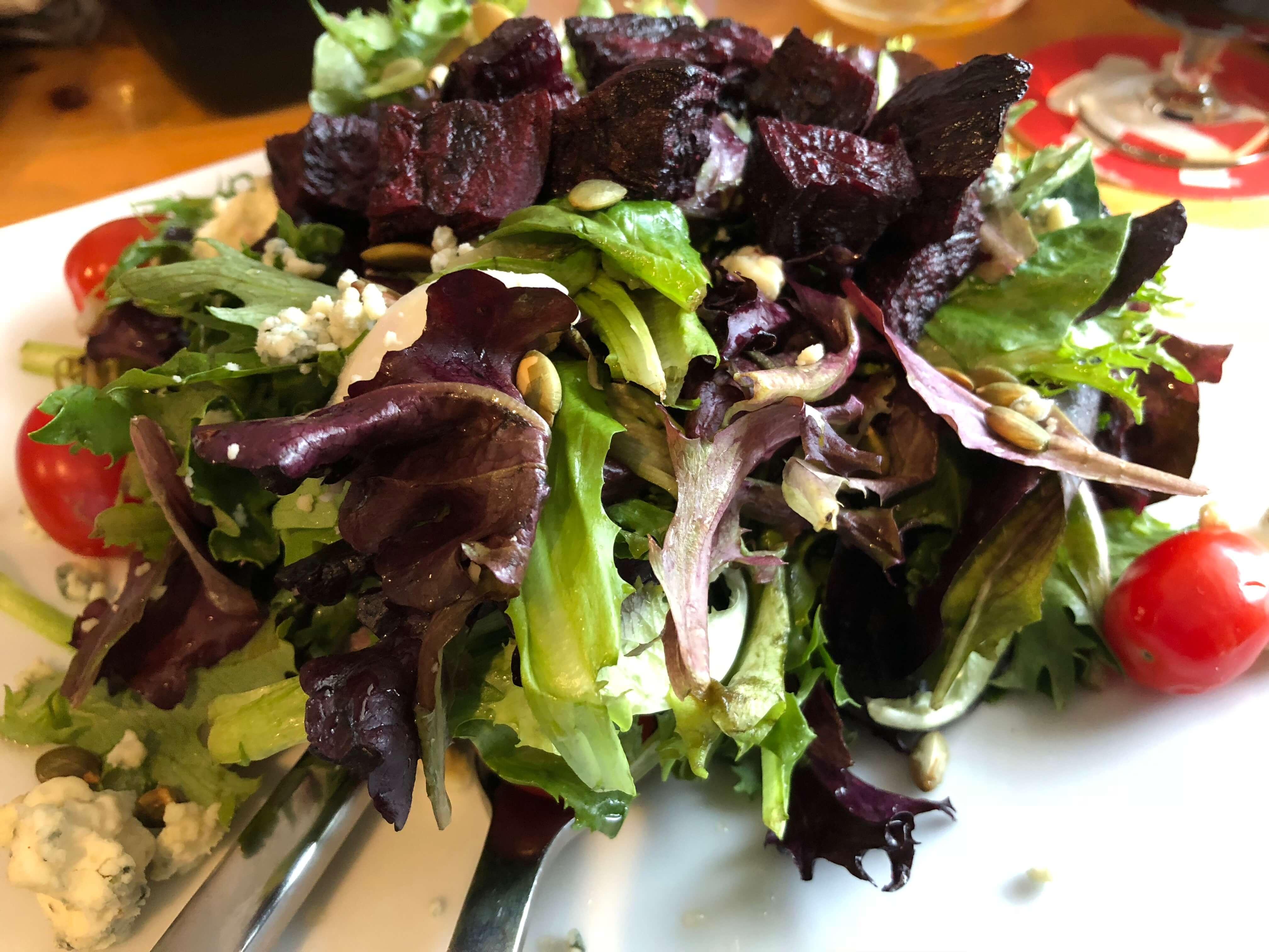 salad at long trail brewery
