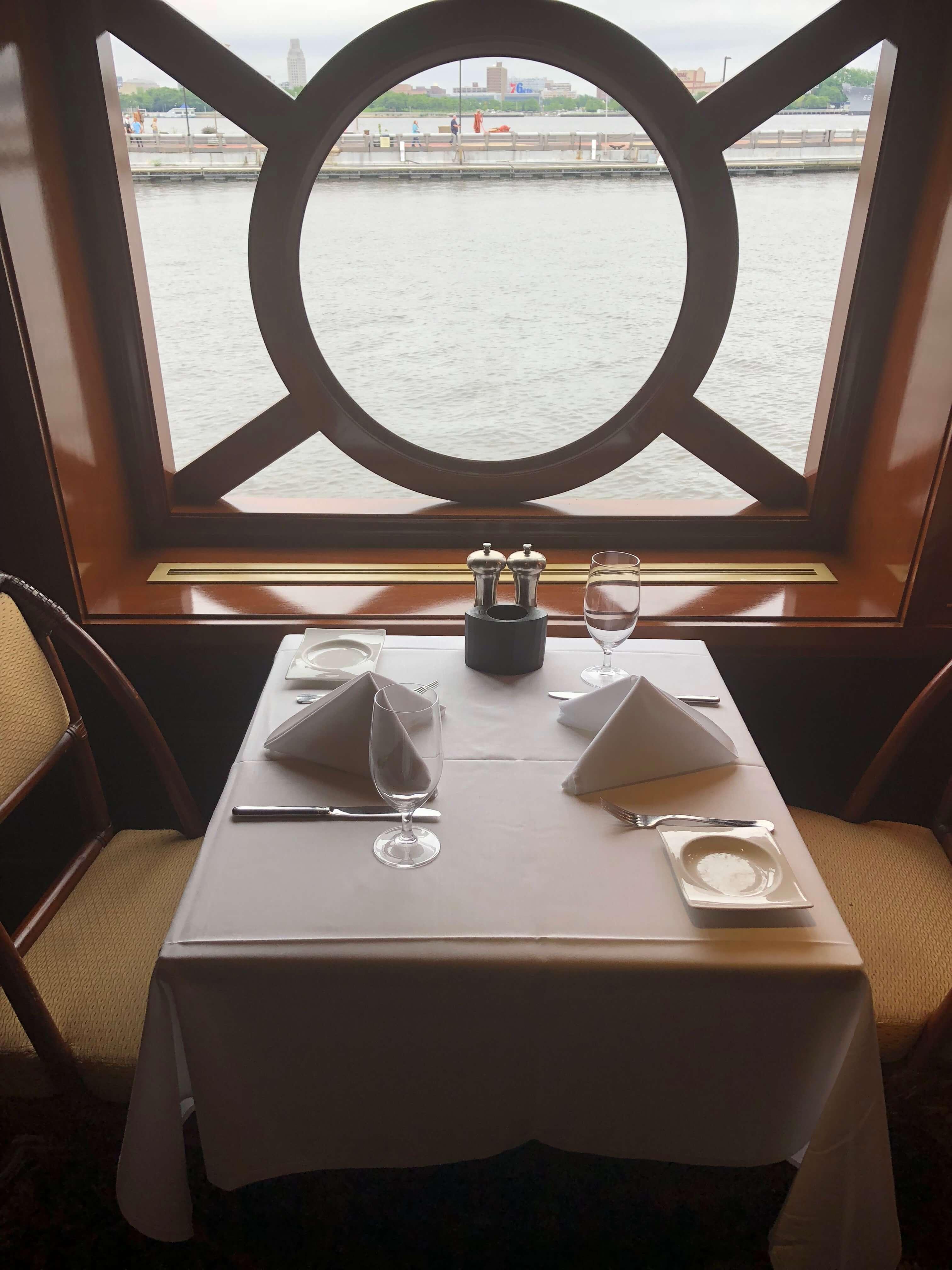Moshulu Restaurant brunch on a boat
