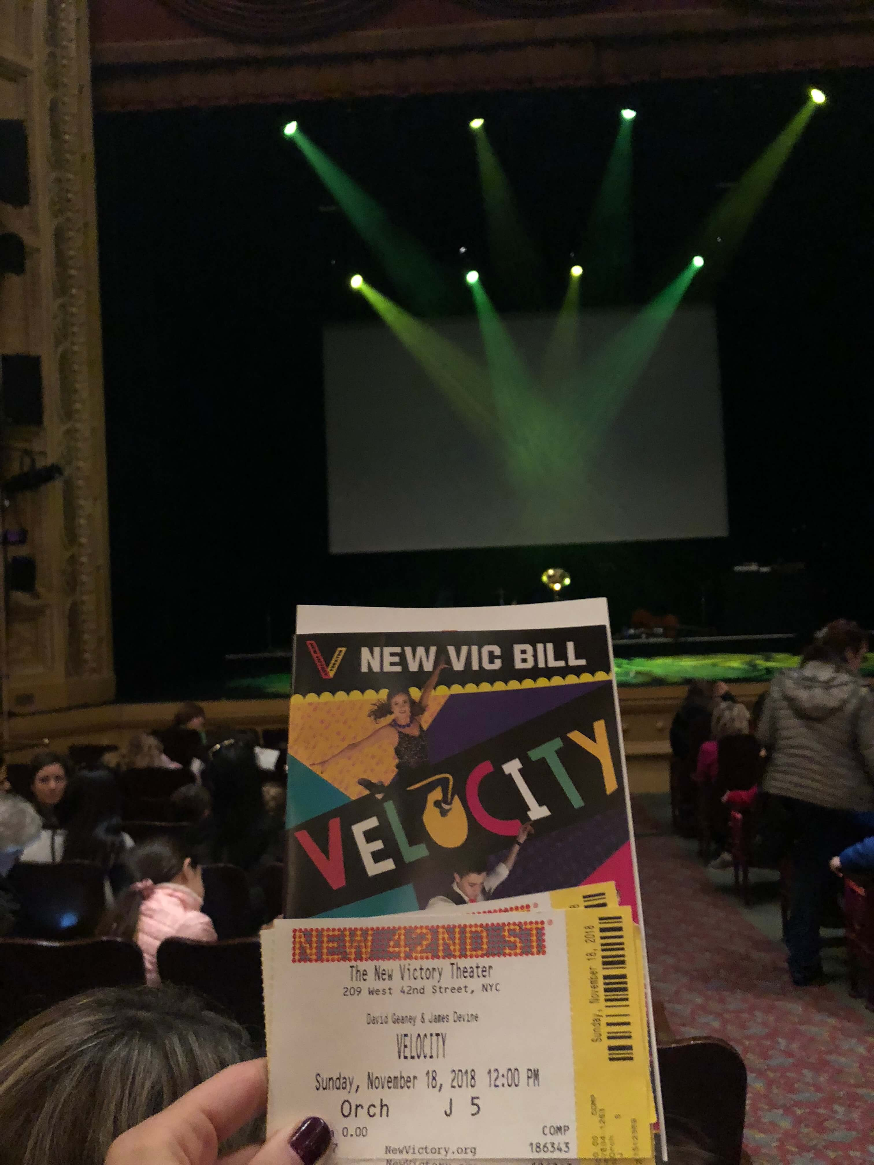 Electric Performance of Velocity at the New Victory Theater