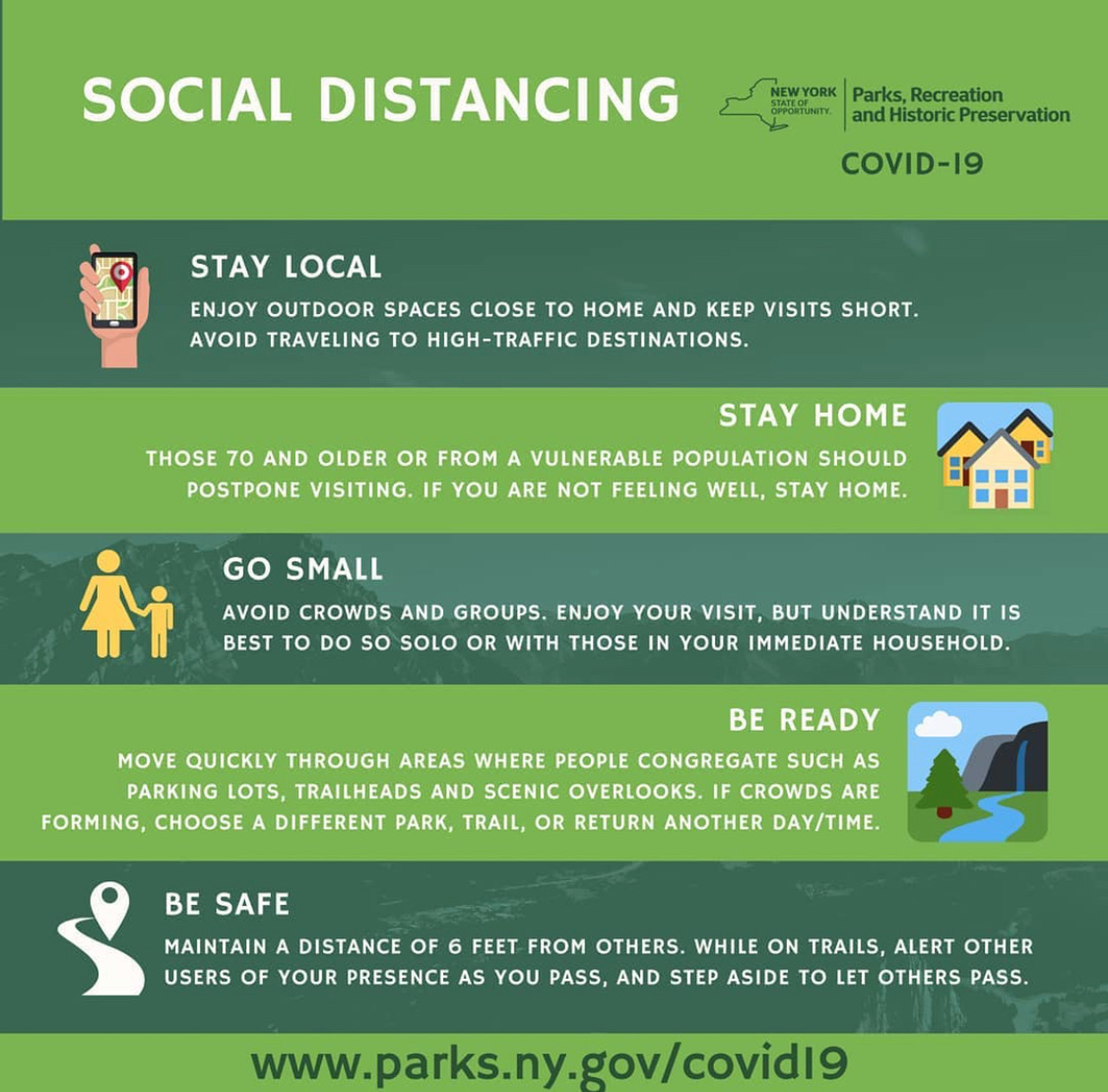 how to maintain social distancing in the westchester parks