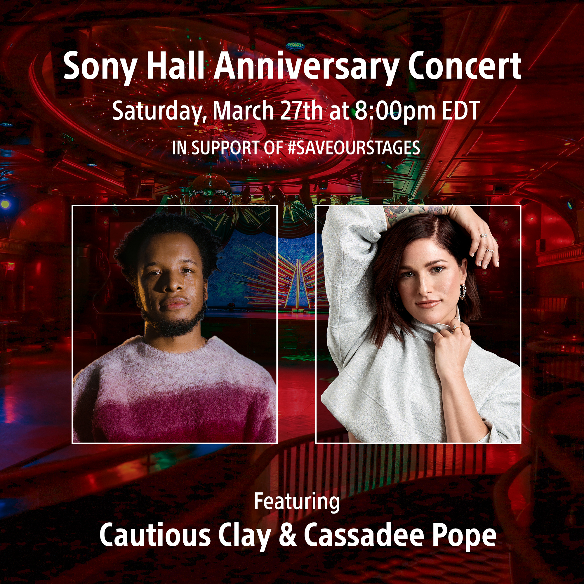 Sony Hall Hosting 3rd Anniversary Concert Stream to Support #SAVEOURSTAGES
