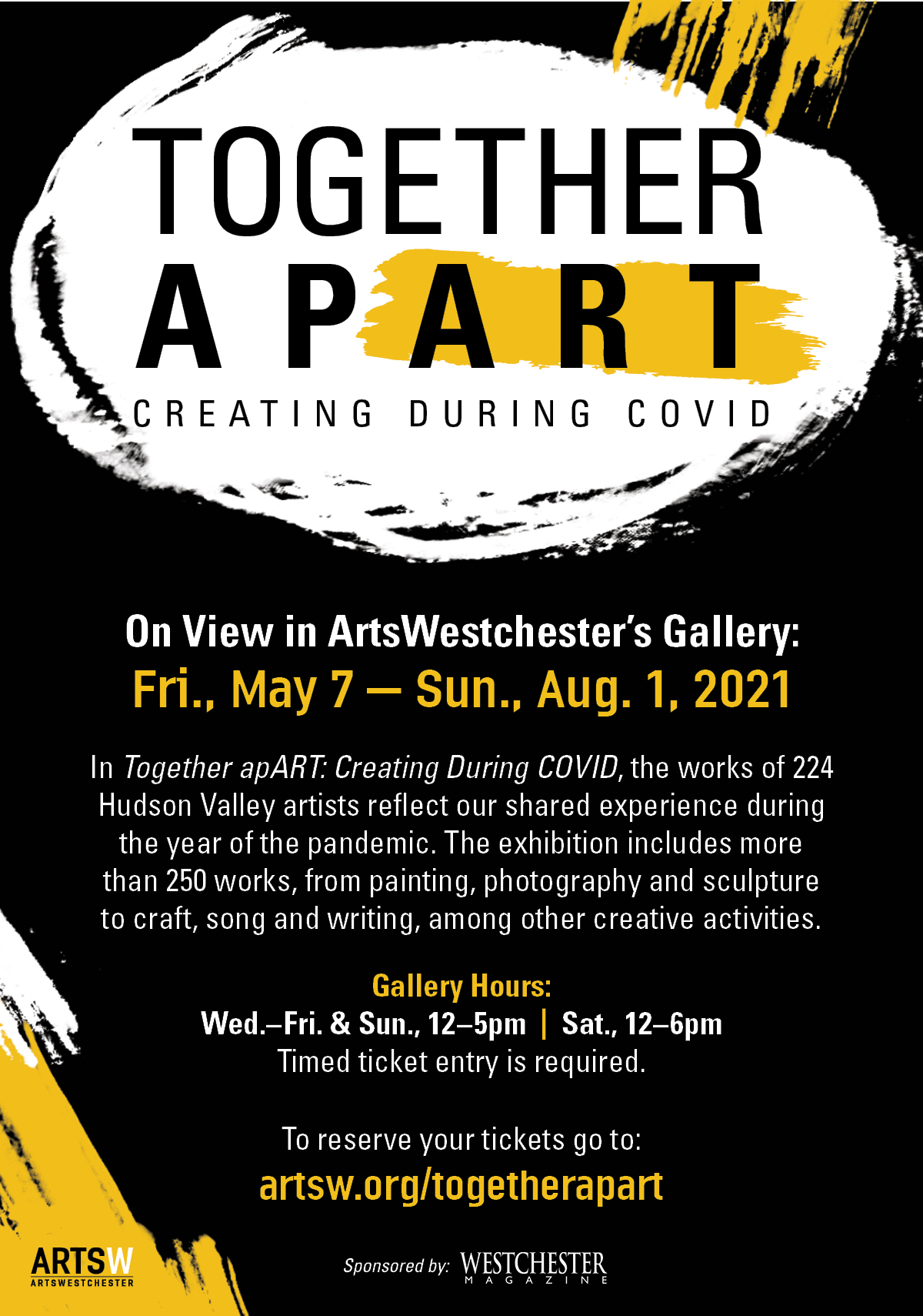 """New Arts Westchester Exhibit, """"Together apART: Creating During COVID"""" Features Works of 200+ Artists"""