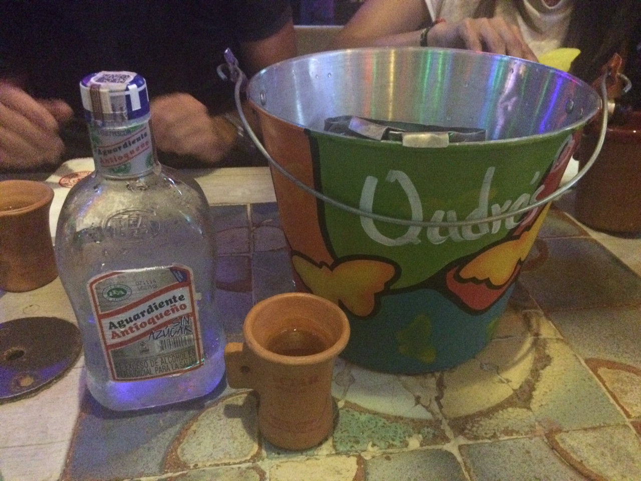 Aguardiente at Andres Carne de Res near Bogota, Colombia | TheWeekendJetsetter.com