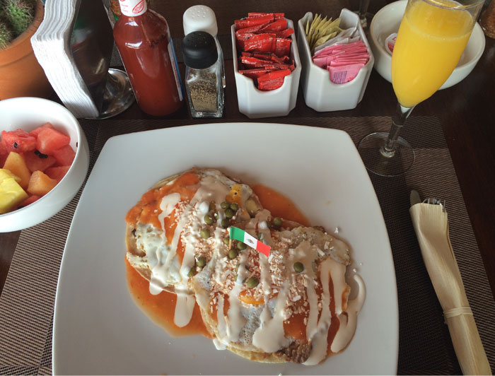 Mexican breakfast at Posada Luna del Sur, hotel in Tulum   TheWeekendJetsetter.com