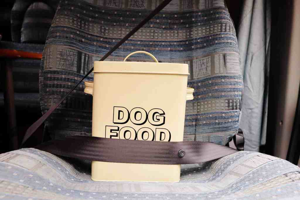 travelling with dog food