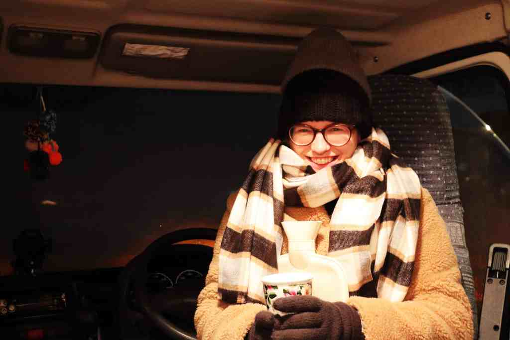 keeping warm in the campervan
