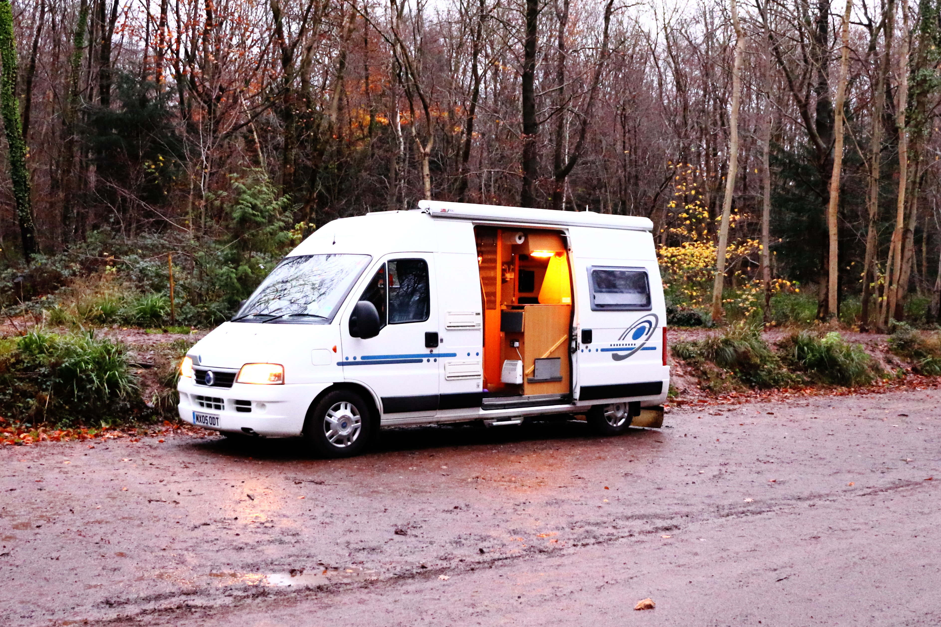 motorhome on a UK Aire