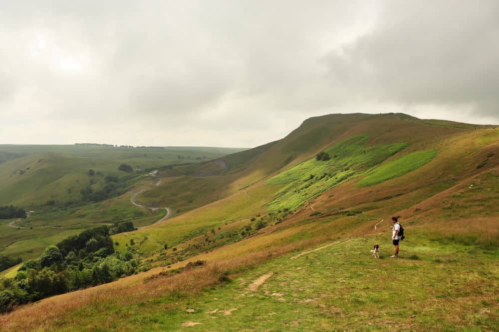 Hiking on Mam Tor