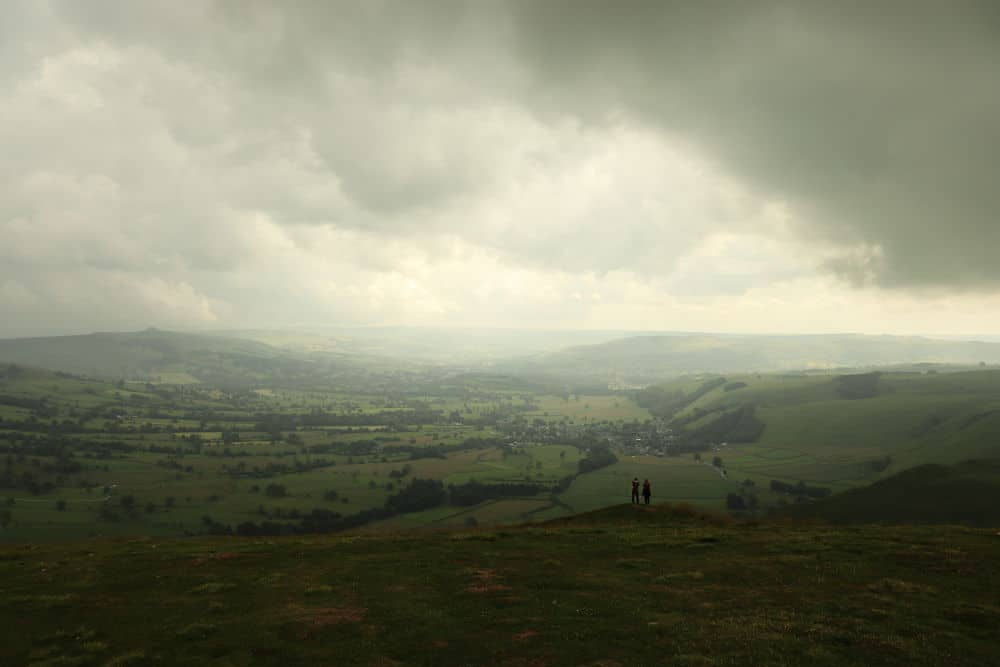 The View from Mam Tor on an angry day