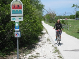 Arlene from Marathon bikes on the trail almost everyday