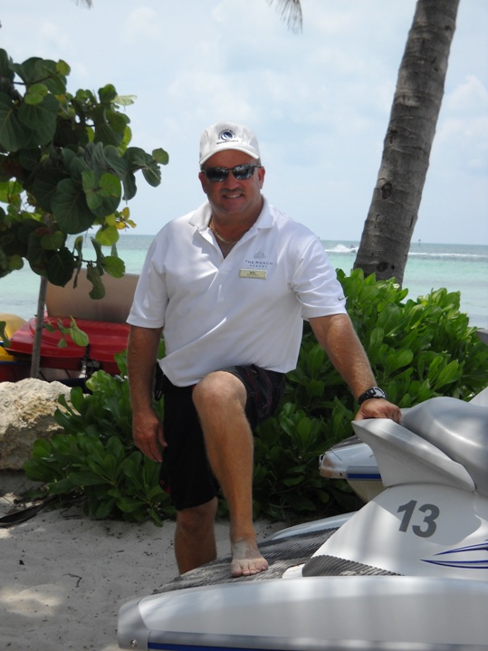 Billy Mosblech relocated from Orlando to Key West over 20 years ago to start his watersports business. Today, he manages all waterfront activities for both the Reach Resort and Casa Marina