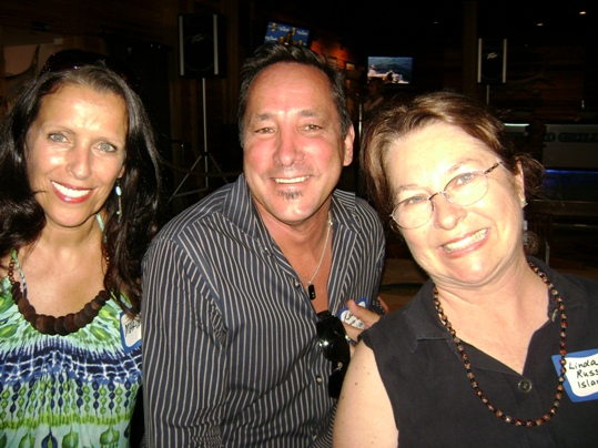 (L to R) Marie Masciovecchio, Advertising Manager for The Best of Key West; Randy Detrich, Marketing Manager for Lower Keys Medical Center; and Linda Russin, owner of Island 107 KW Radio rock the networking scene