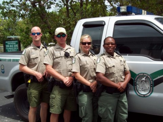 Recent graduates of the FWC Academy in Tallahassee