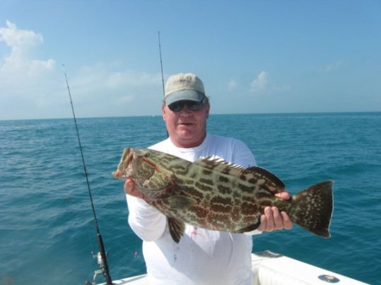 Kyle Witwer with grouper