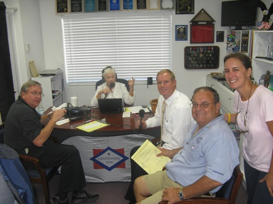 Pictured, from left: Stan Haines, Anne O'Bannon, Peter Chapman, Mike Puto, and Chrissy Gray.