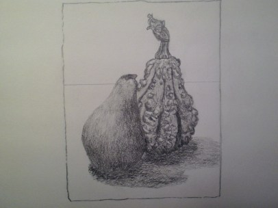 Graphite Gourd and Pear