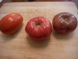 Left: Super Sauce Middle: Brandyboy Right: Cherokee Purple