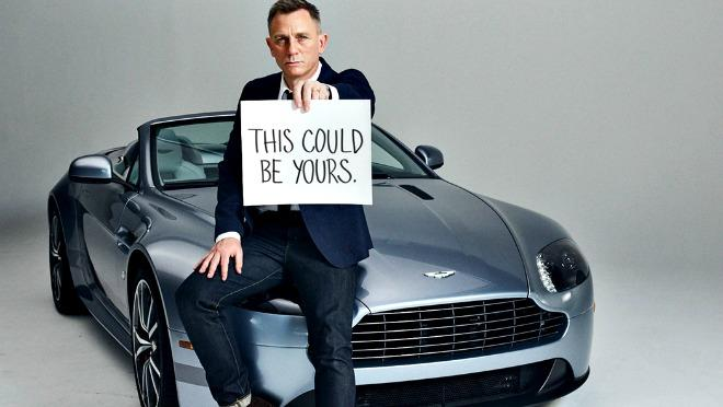 Aston Martin and actor Daniel Craig are combining for fundraising campaign.