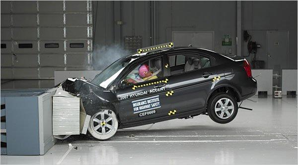 The Insurance Institute For Highway Safety has been testing vehicles since 1959.