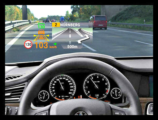 Head-up display devices helps drivers, quality varies