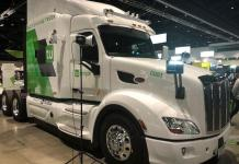 The Tu Simple electric truck was showcased at the recent GTU conference in San Jose, California.