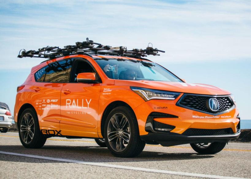 The Rally Cycling Team supports its men's and women's team with 2019 Acura RDX sport utility vehicles.