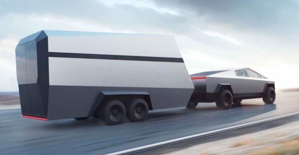 The pending Tesla Cybertruck can tow an RV.