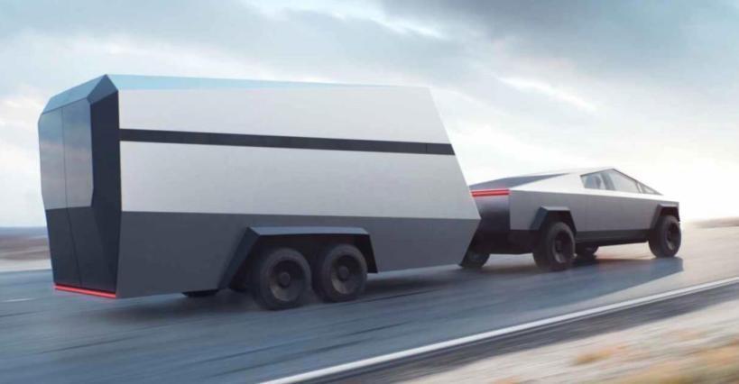The pending Tesla Cybertruck can tow an RV.
