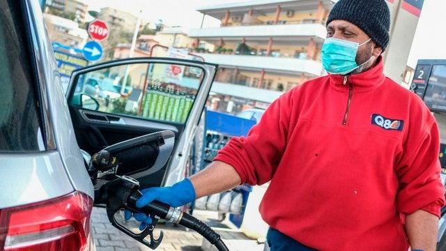 Coronavirus can remain on gas pumps for three days.