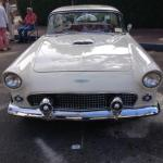 A 1957 Ford Thunderbird showcased at the Concours on the Avenue in Carmel, California.