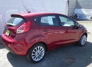 The sporty 2014 Ford Fiesta is fun to drive.