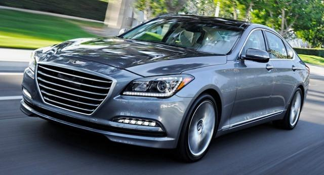 The 2015 Hyundai Genesis is a luxurious sedan with a substantially lower price than rivals.