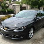 The angled front view, 2014 Chevy Impala