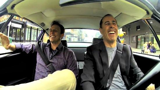 Jerry Seinfeld, Seth Meyers get coffee in the perfect car, really?