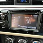 The sharp-angled 2014 Toyota Corolla navigation system.