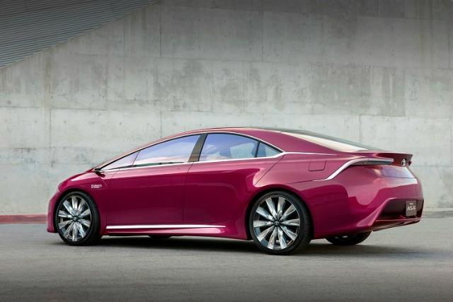Wild exterior color for Toyota Prius concept car.
