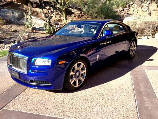 The 2014 Rolls Royce Wraith has brilliant paint.