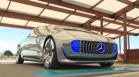 The prototype of the Mercedes-Benz driverless car.