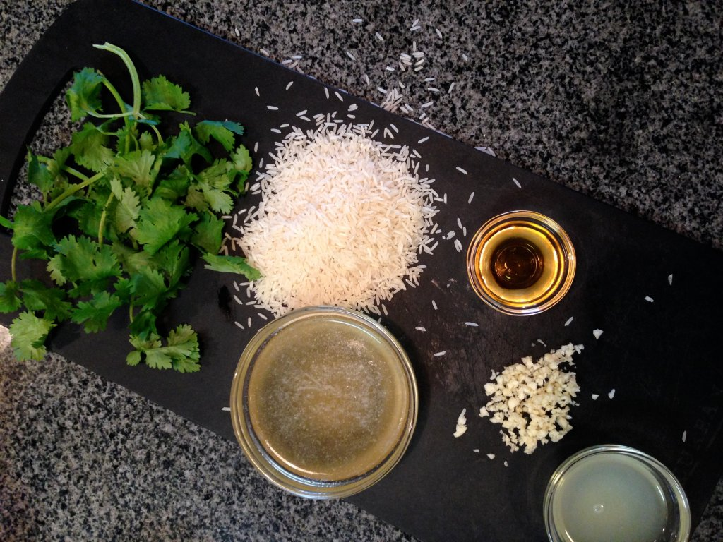 gluten-free and dairy-free cilantro lime rice made from scratch