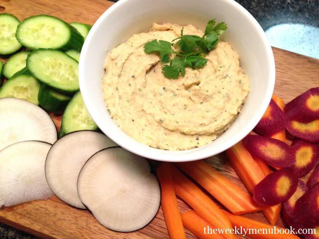 gluten-free homemade cilantro lime hummus