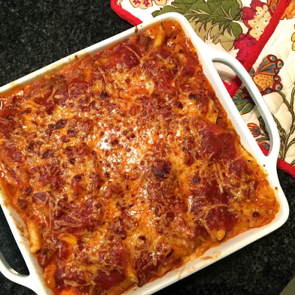 baked penne with bison