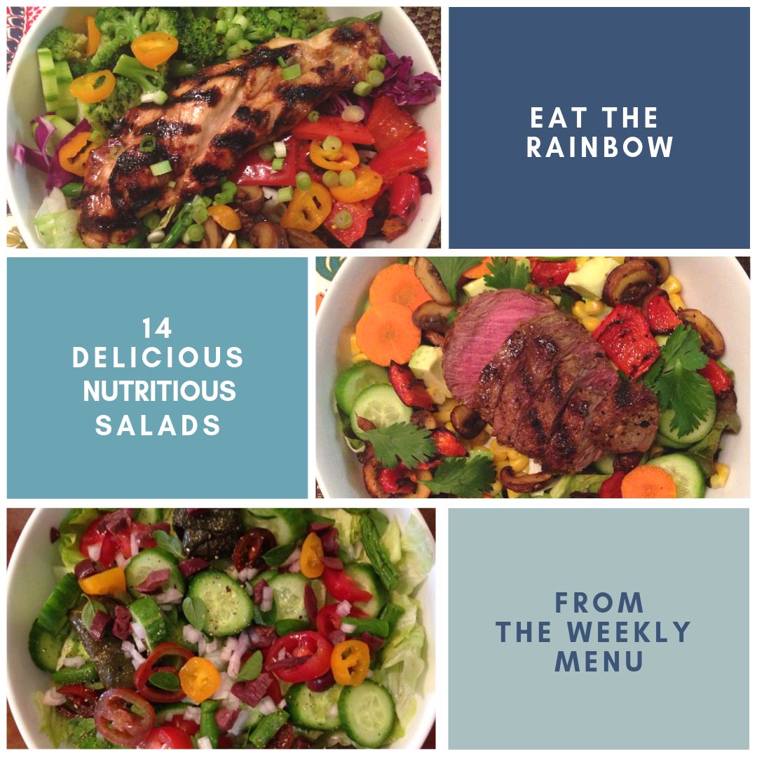 Eat the Rainbow! 14 delicious and nutritious salads from the weekly menu