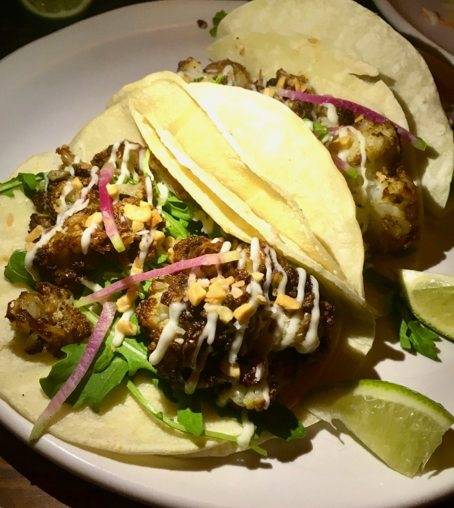 Austin gluten-free restaurants - spiced cauliflower tacos at Bar Peached