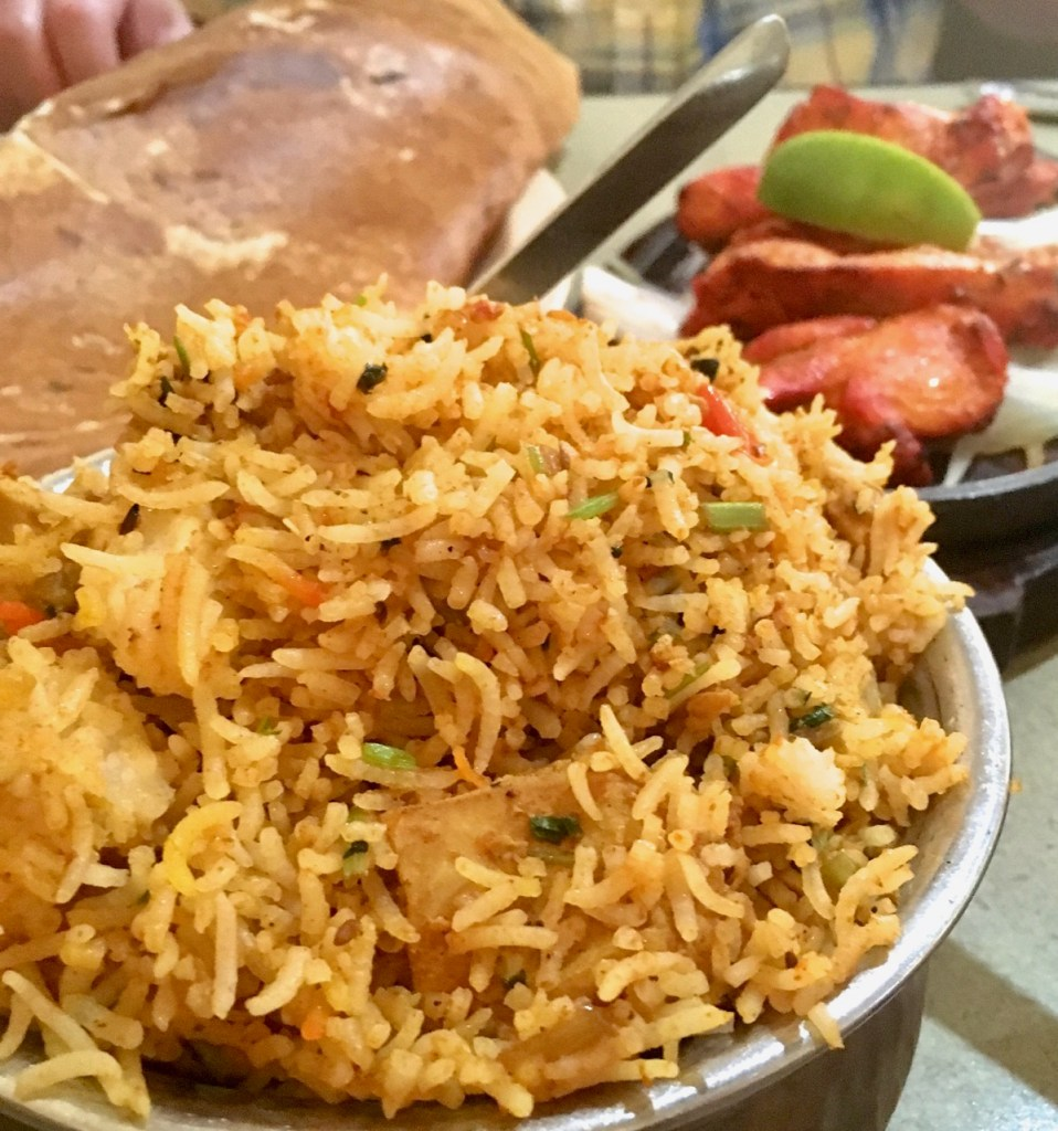 Austin gluten-free restaurants - Chicken Briyani and Masala Dosa from Asiana Indian Cuisine
