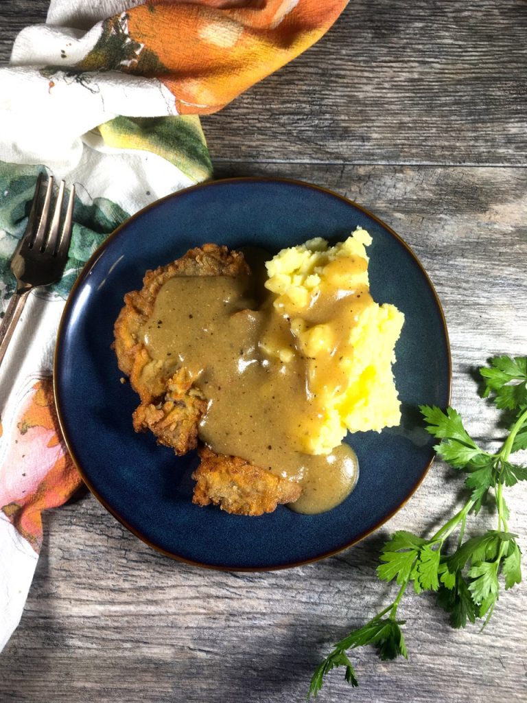 Chicken Fried Steak - Gluten-Free, Made with Goat's Milk Yogurt instead of Buttermilk