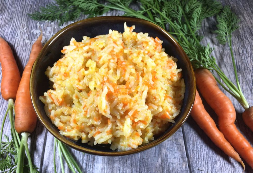 mom's sweet carrot rice