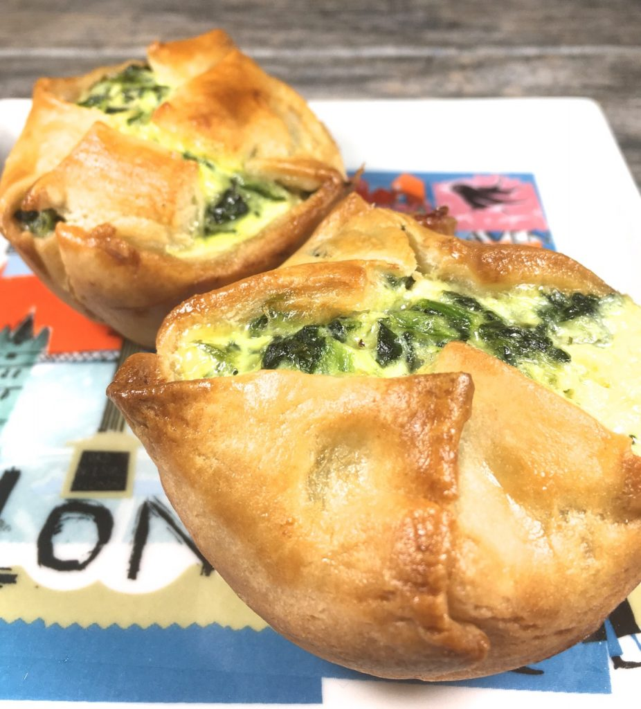 Gluten-Free Spinach Goat Feta Puff Pastry