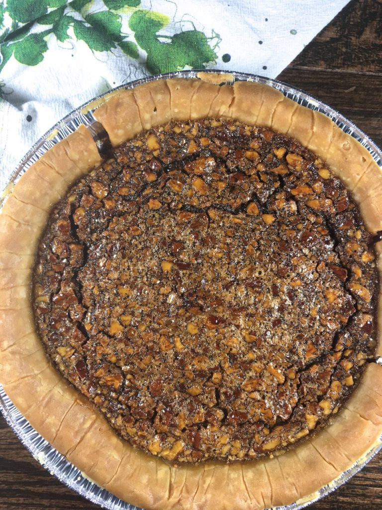 Gluten-Free Pecan Pie made with Wholly Wholesome pie shell