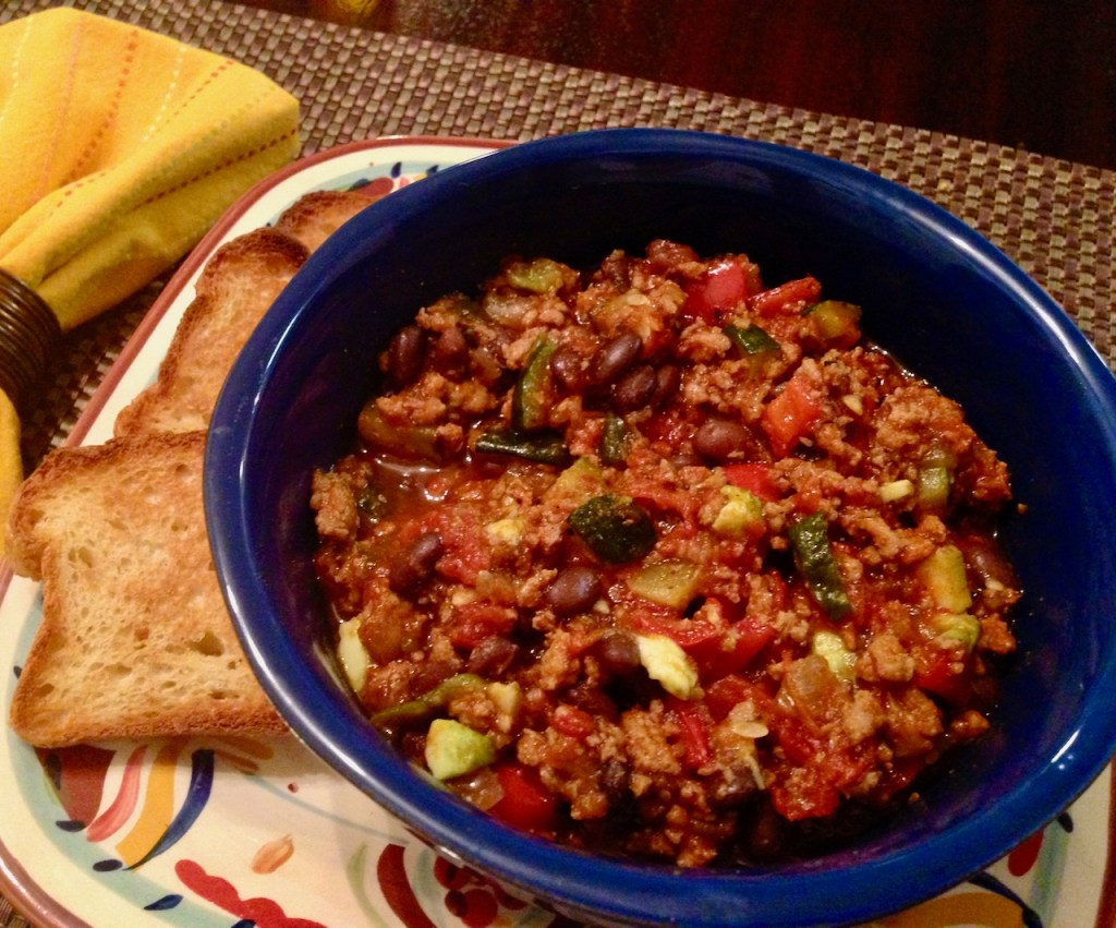 Turkey and Veggie Chili, Gluten-Free and Dairy-Free