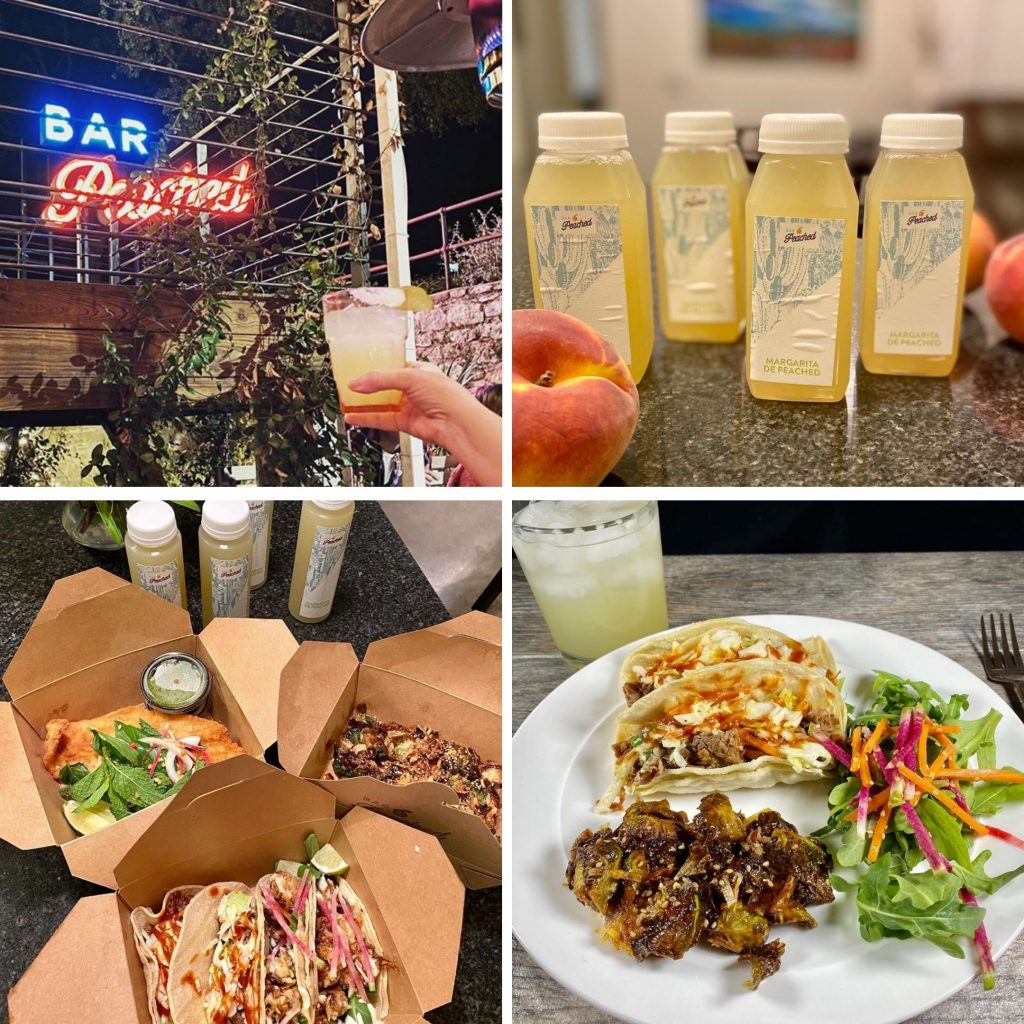 Austin Gluten-free Curbside Delivery Meals and Margaritas from Bar Peached